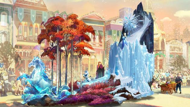 'Magic Happens' Parade Frozen Float at Disneyland