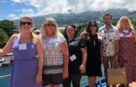 English  Canadian Tiare specialist agents during the FAM Trip to Tahiti and its islands with Bryan Pirolli from Tahiti Tourisme Canada