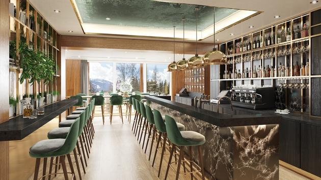 Hotel Rhodania Crans-Montana in the Swiss Alps, which is slated to become an Unbound Collection by Hyatt hotel.