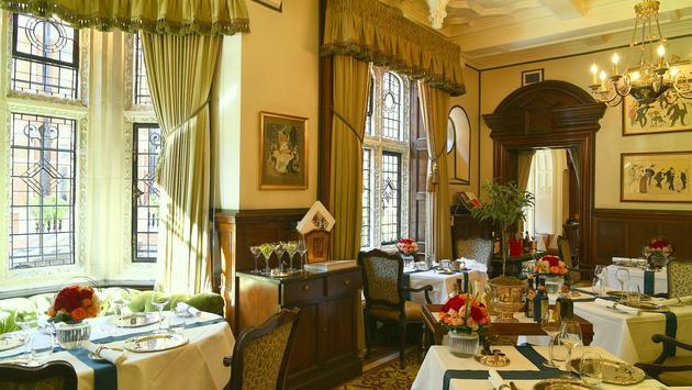 Dinner set-up at Cheneston's, the Milestone's signature restaurant - London
