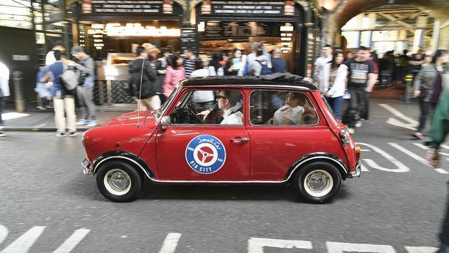 Tiny car on a London street