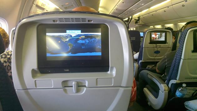 Seating in a United Airlines 767-300 airliner