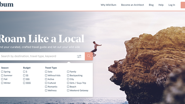Wild Bum, a new, curated travel guide platform