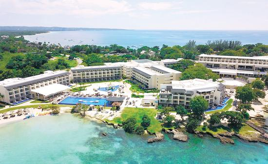 Aerial view of Royalton Negril