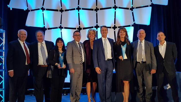 American Express Global Business Travel and HRG North America tied in the Westjet Top Growth TMC category at the WestJet Travel Partner Awards