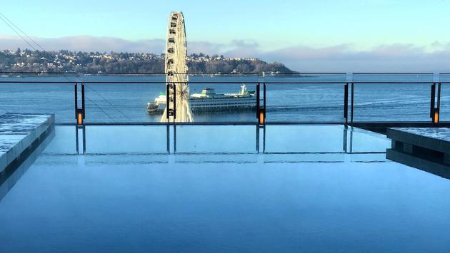 View from the Four Seasons Seattle infinity pool