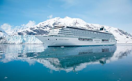 Crystal Serenity in Glacier Bay.