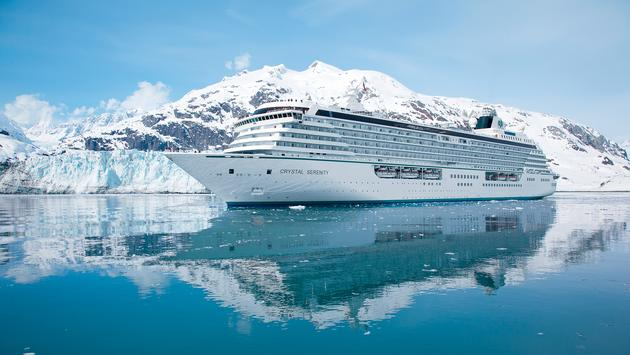 Crystal Serenity in Glacier Bay.