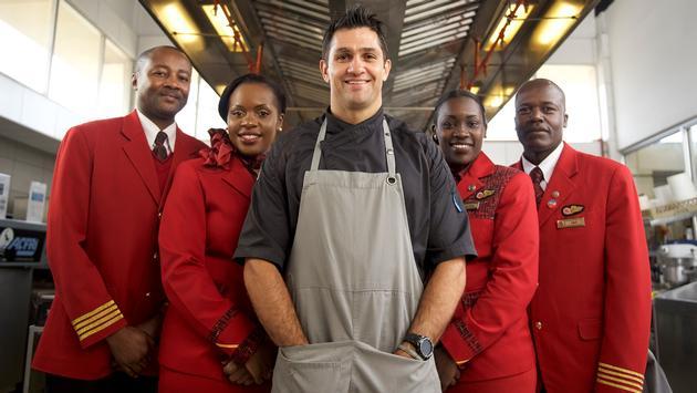 Chef Kiran and Kenya Airways crew