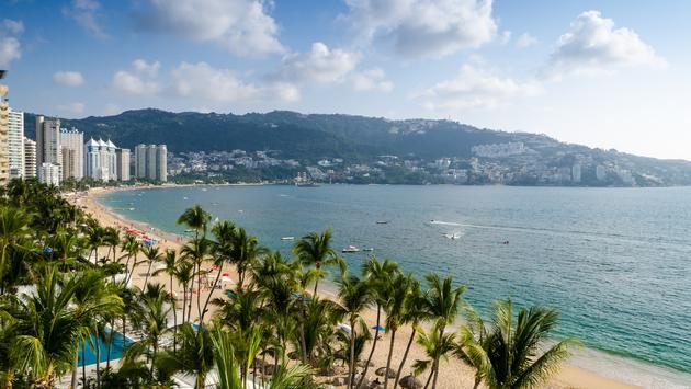 Acapulco beach in Mexico.