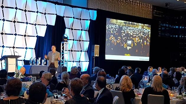 Featured speaker Ron Tite told a packed room at the WestJet Travel Partner Awards Gala to do business with companies with whom you share the same values.
