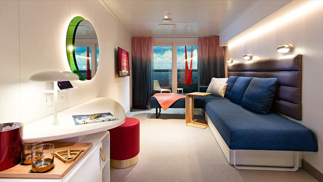 Virgin Voyages, cabin, rendering