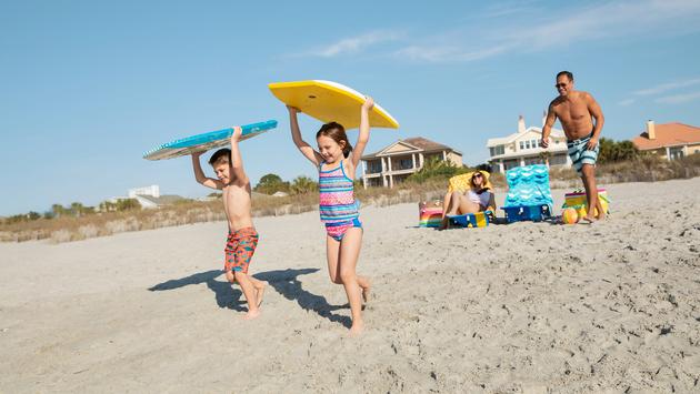 Family vacationing in Myrtle Beach, South Carolina
