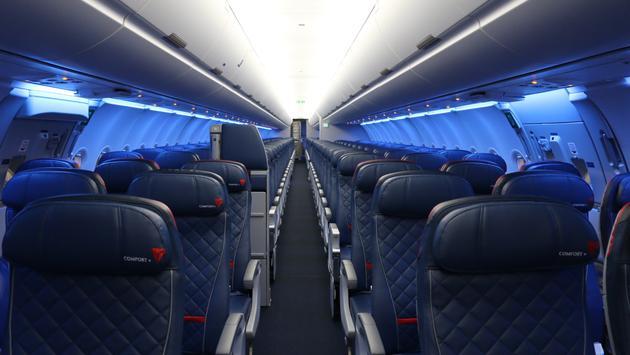Delta Airbus A321 interior