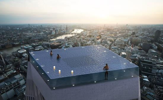 World's First 360-degree Rooftop Infinity Pool
