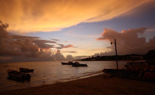 Sunset near Treasure Beach, Jamaica