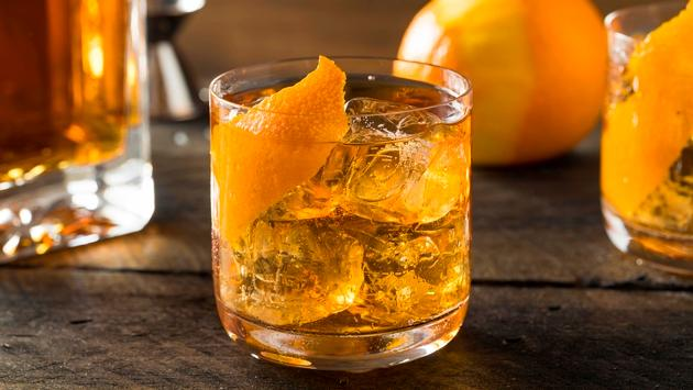 Old Fashioned Bourbon on the Rocks