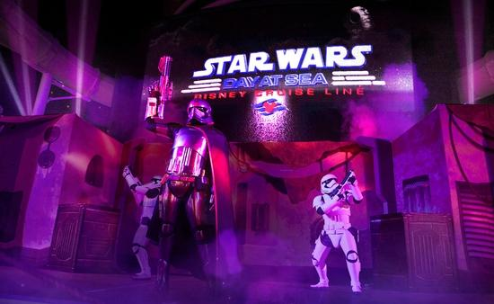 """The """"Summon the Force"""" deck party, part of Star Wars Day at Sea"""