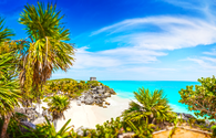 Mayan Ruins. Tulum Beach (PHOTO: Photo via lucafabbian / iStock / Getty Images Plus)