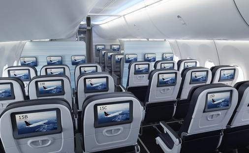 Air Canada Boeing 737 MAX economy class