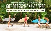 60% Off Second Guest + Kids Sail Free