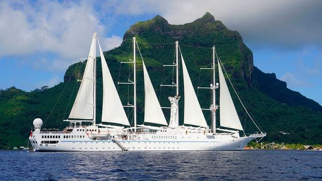 Windstar Cruises' Wind Spirit in Bora Bora, French Polynesia