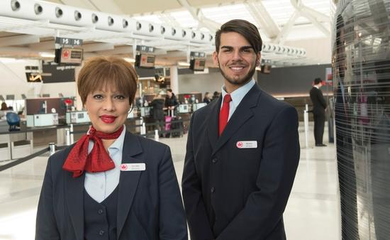 Air Canada Business Class check-in agents in Toronto
