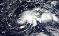 Hurricane Ophelia as a tropical storm in the Atlantic Ocean