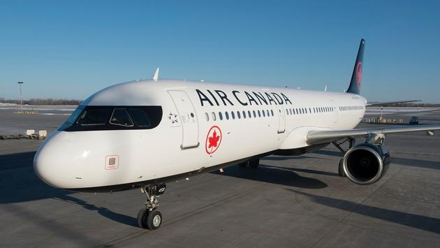An Air Canada Airbus A321 on the tarmac