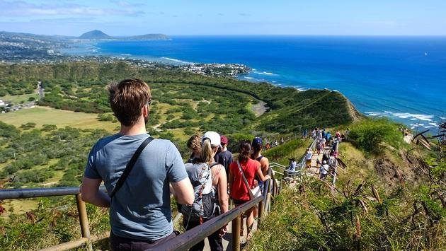 Hike up to the summit of Diamond Head Crater