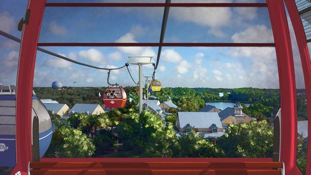 Disney Skyliner Artist Concept, Disney World