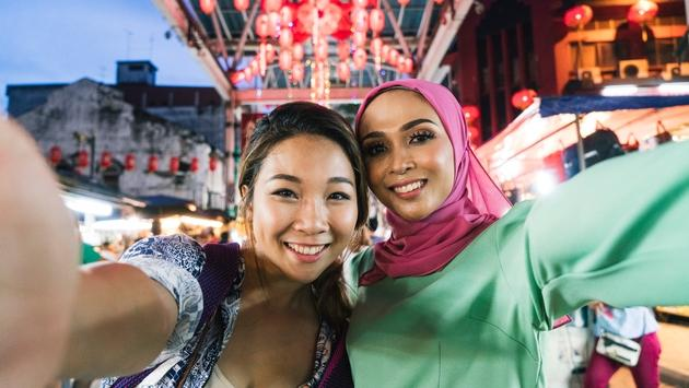 asian woman, muslim woman, traveling, women