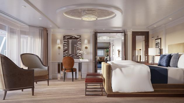 Oceania's New Ralph Lauren Home-Designed Owner's Suite Master Bedroom