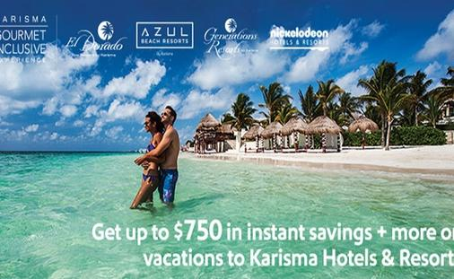 Get up to $750 in instant savings + more on vacations to Karisma Hotels & Resorts