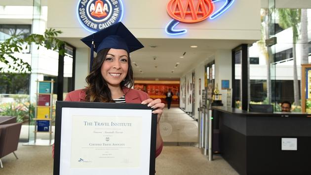 Gena Garcia, The Travel Institute's  25,000th graduate