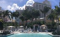 Pool view of the Baha Mar Resort community.