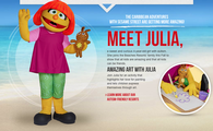 Join Julia for an activity that highlights her love for painting and lets children express themselves through art!