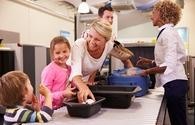family airport security check