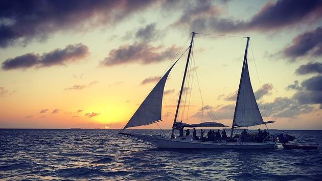 Sailing off the shores of the Florida Keys.
