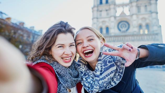 Young travelers in Paris