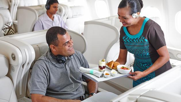 The in-flight crew onboard Fiji Airways.