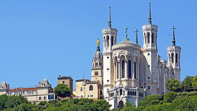 Notre Dame Cathedral in Lyon, France
