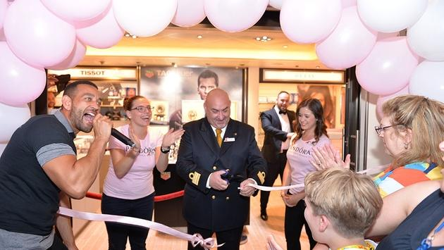 Pandora opens on Carnival Cruise Line's Carnival Breeze
