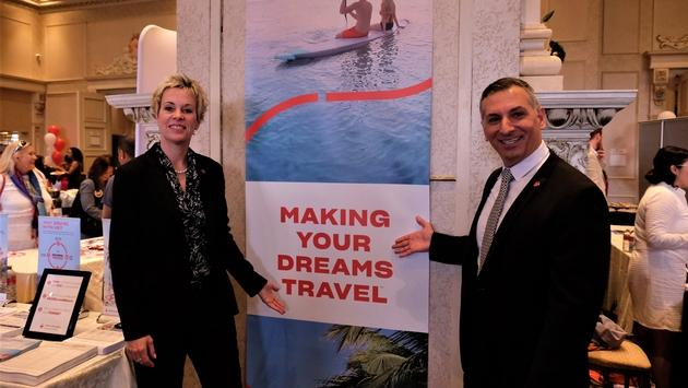 Dana Gain and Nino Montagnese, Air Canada Vacations