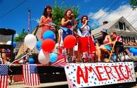 Fourth of July parade in Bristol, Rhode Island