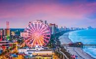 Skyline of Myrtle Beach, South Carolina.
