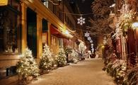 Christmas decorations in Quebec City