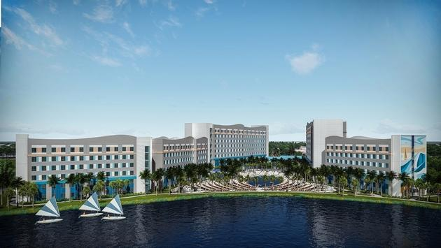 An artist's rendering of one of the two new properties being built by Universal Orlando Resorts and Loews Hotels.