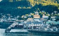 scenery around alaskan town of ketchikan
