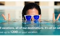Up to $200 off instantly + additional hotel savings